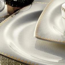 Kütahya Porselen Bone Mare 62 Parça 9715 Desenli Yemek Takımı
