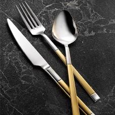 Kütahya Porselen Happy Gold 84 Parça Çatal Bıçak Takımı