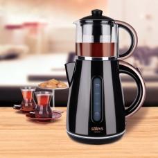 Stilevs Çays Cm 16 Çay Makinesi Siyah Bakır
