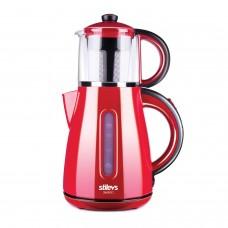 Stilevs Çays Cm 16 Çay Makinesi Kırmızı Siyah