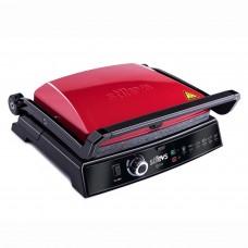 Stilevs Bitost Izgara ve Tost Makinesi Kırmızı Siyah